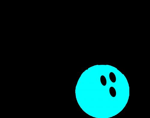 pins bowling teal