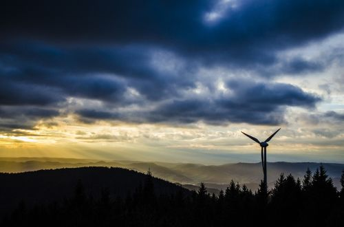 pinwheel black forest wind turbine