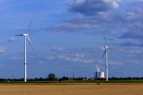 pinwheel nuclear power plant pollution