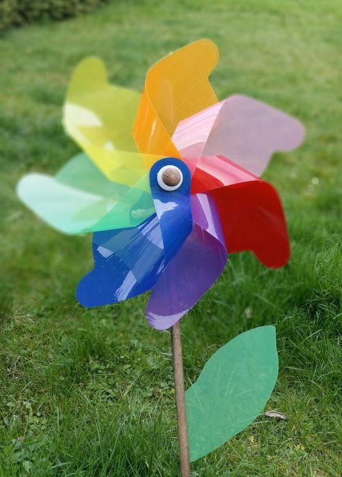 pinwheel garden colorful