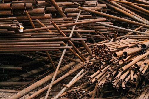 pipes rods metal tubes