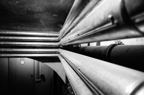 pipes heating tube perspective