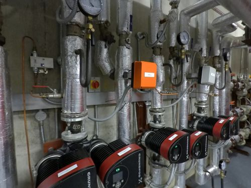 pipework district heating water pumps