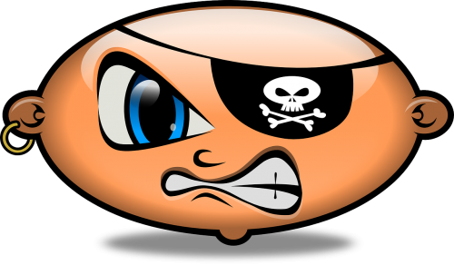 pirate angry emoticon