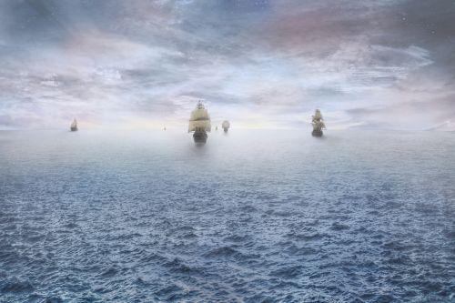 pirate ship ocean