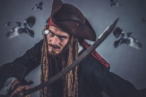 pirate sword pirate head