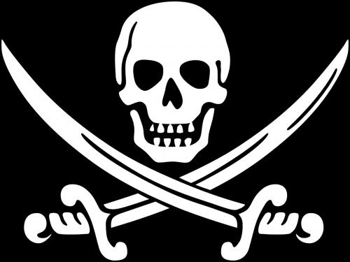 pirate skull outline