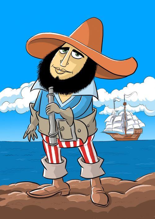 pirate sailor lid