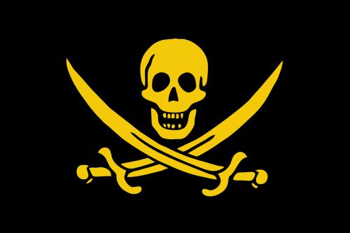 pirate flag death's head black