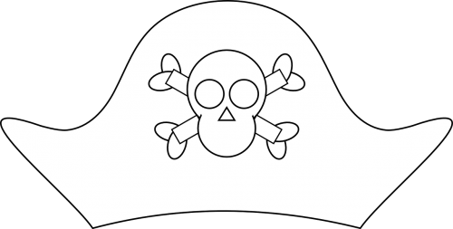 pirate hat skull and crossbones pirate