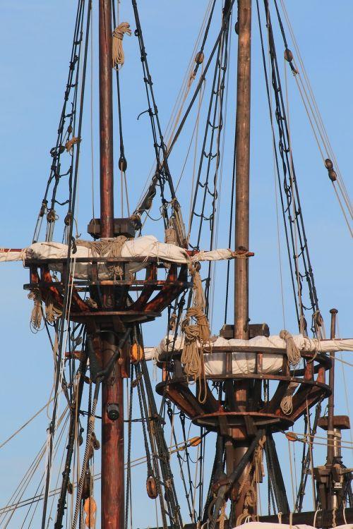 pirate ship sail masts