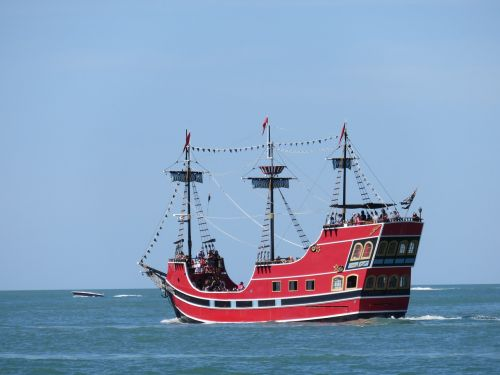pirate ship seafaring sailing vessel