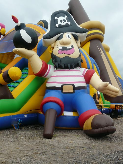pirate ship bouncy castle air cushion
