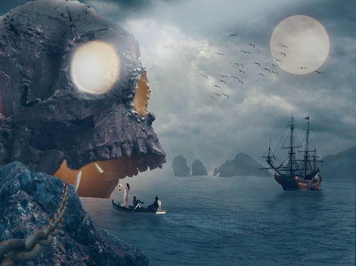 pirates island ship
