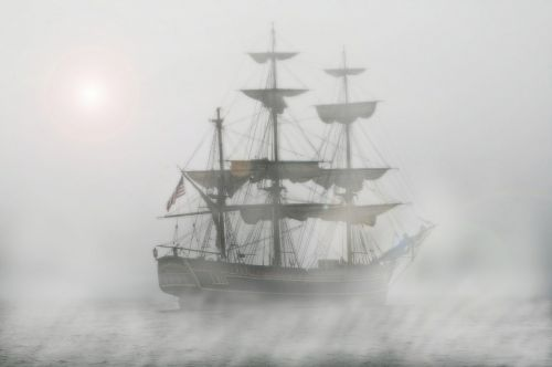 pirates sailing ship frigate