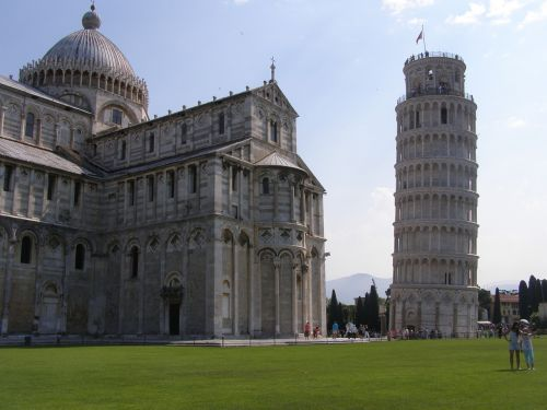 pisa tower the cathedral