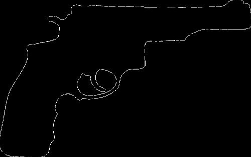 pistol revolver silhouette