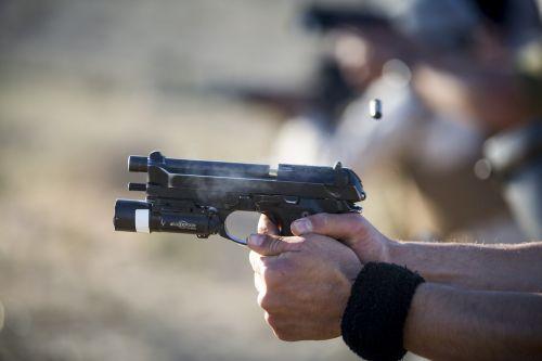 pistol firearm live-fire