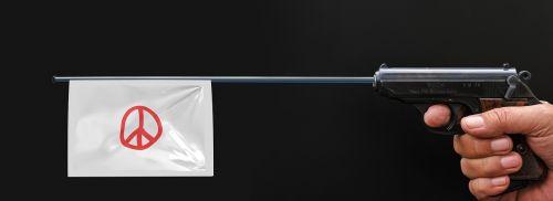 pistol weapon flag