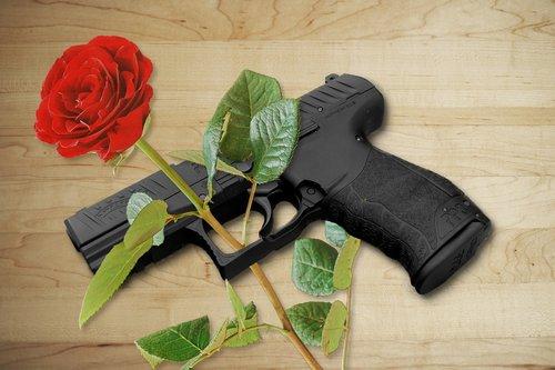 pistol  rose  gun