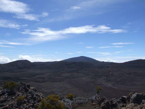 piton of the furnace volcano reunion island