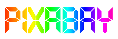 pixabay logo rainbow
