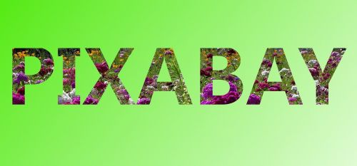 pixabay word font