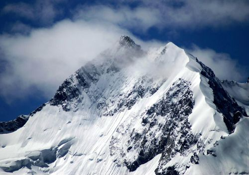 piz bernina mountain biancograt