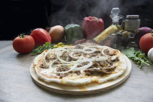 pizza shredded beef pizza shop