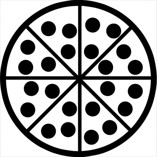 pica,minimalistinis,maistas,ispanų,butas,gabaliukas,minimalistinis,ženklas,piktograma,restoranas,pepperoni,nemokama vektorinė grafika