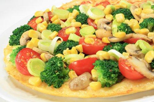 pizza  broccoli  corn