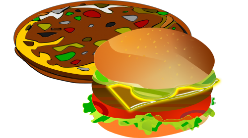 pizza,food,lunch,tomato,restaurant,snack,hamburger,free illustrations,free images,royalty free