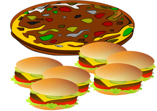 pizza,hamburger,food,fast,burger,restaurant,sandwich,snack,free illustrations,free images,royalty free