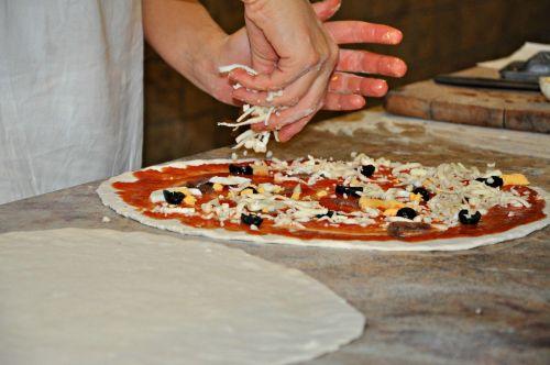 pizza wood fired oven mozzarella