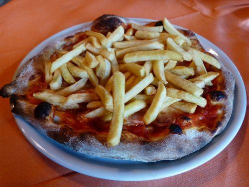 pizza chips pizza dinner