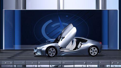 pkw electric car auto show