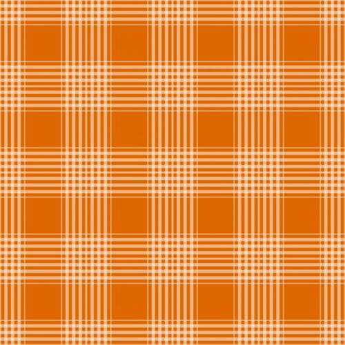Plaid Checks Background Orange