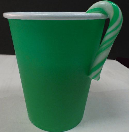 Plain Green Paper Cup