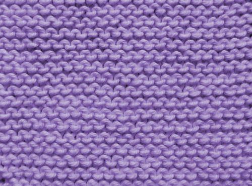Plain Knit Stitch In Lavender