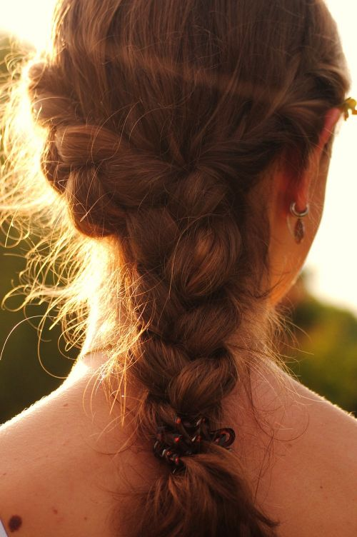 plait woven hairstyle