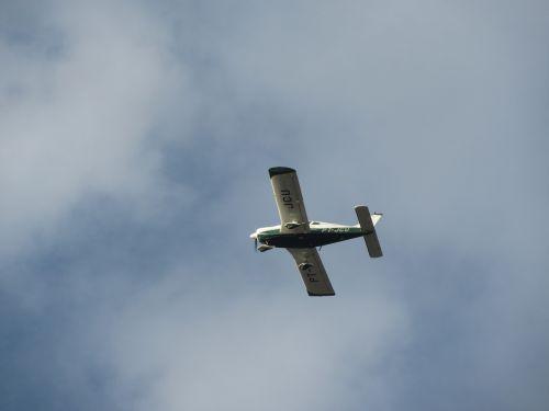 plane sky small
