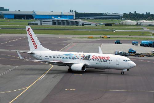 plane runway airline