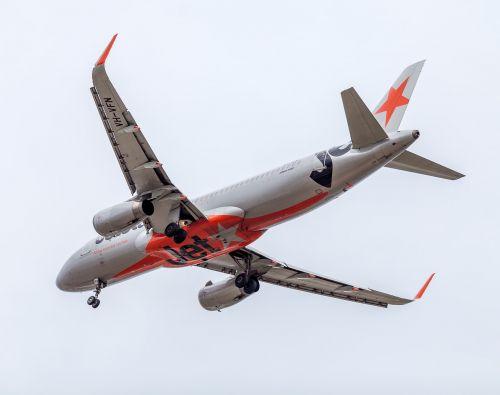 plane passenger plane jetstar