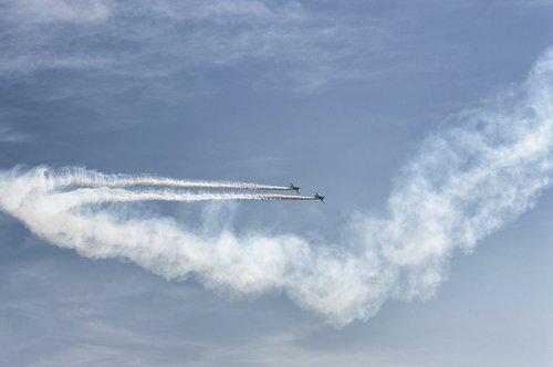 plane  air show  sky
