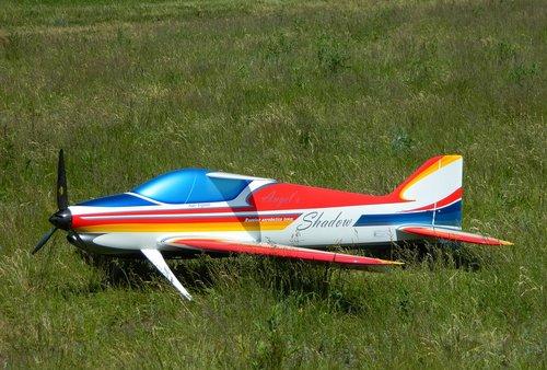 plane  model airplane  grass