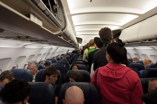 plane passengers airplane