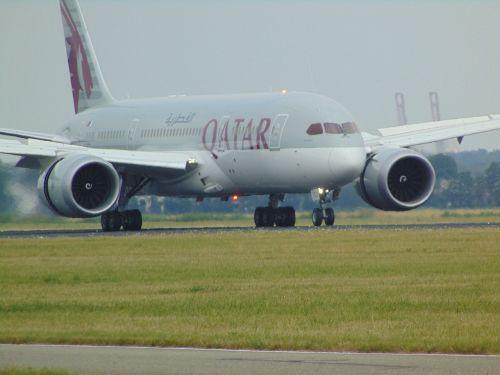 plane dreamliner qatar airlines