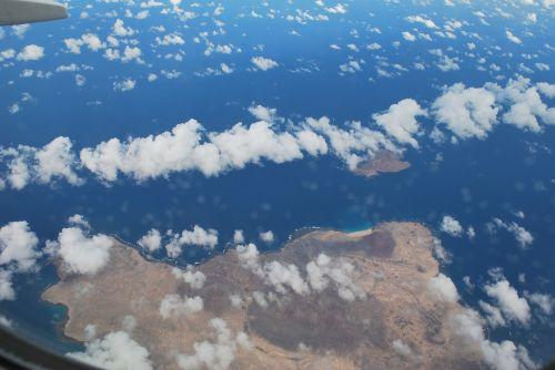 plokštumos vaizdas,vaizdas,jūra,debesys,dangus,Fuerta Ventura,mėlynas,skristi,sala,Vaizdas iš viršaus