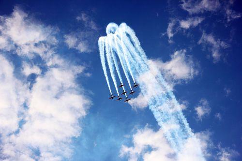 planes sky blue