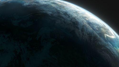 planet aerial view atmosphere